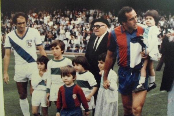 24 de Mayo de 1981 Partido Homenaje a Ascensi en el Camp Nou de Barcelona.  Barcelona Vs Puebla
