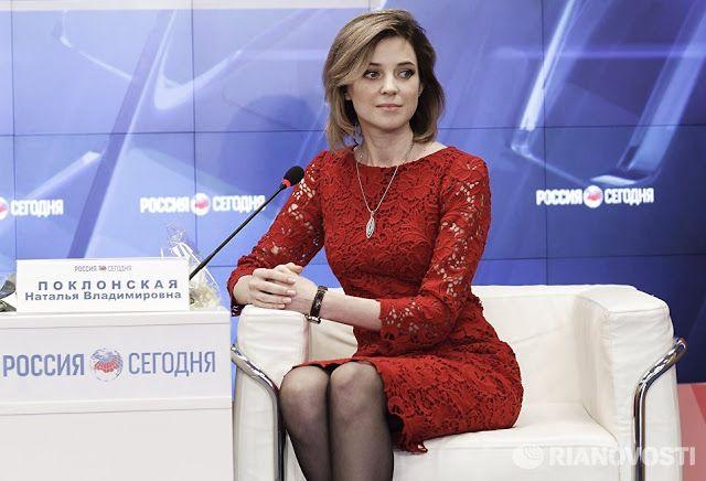 Crimea's Natalia Poklonskaya - https://en.wikipedia.org/wiki/Natalia_Poklonskaya