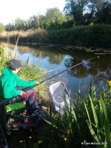 Me fishing the Royal Canal