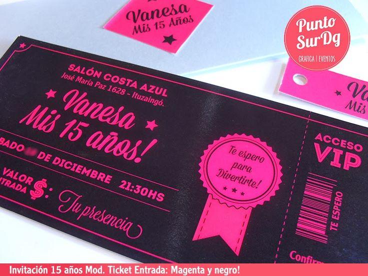 17 mejores imágenes sobre Invitaciones de XV Años en Pinterest ...