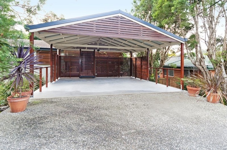 The 25 best carports brisbane ideas on pinterest patio for Carport with storage room