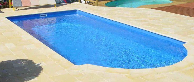 Phoenix - 7.2m x 3.3m, 1.1m - 1.7m depth. http://www.sapphirepools.com.au/swimming-pools/phoenix/