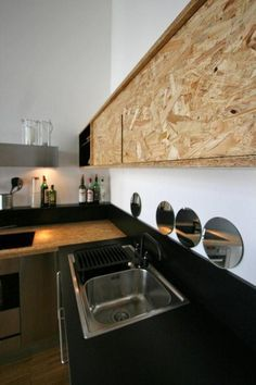 oriented strand board kitchen counter - Google Search