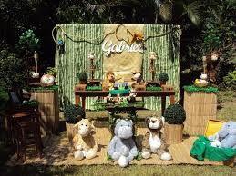 Resultado de imagen para festa na selva decoracao