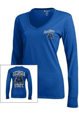 Product: Georgia State University Panthers Women's Long Sleeve V-Neck Campus T-Shirt | I. Want. THIS! #WhatsABulldog