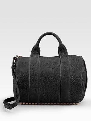 Alexander Wang Rocco Bag <3 The next bag on my list (: #shoppingaddictRocco Bags, Leather Satchel, Metals Feet, Gold Hardware, Studs Cov Bottom, Rocco Leather, Alexander Wang, Purses Bags, Accessories