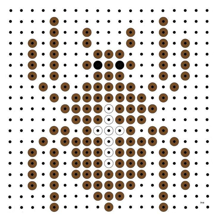 Spider perler bead pattern
