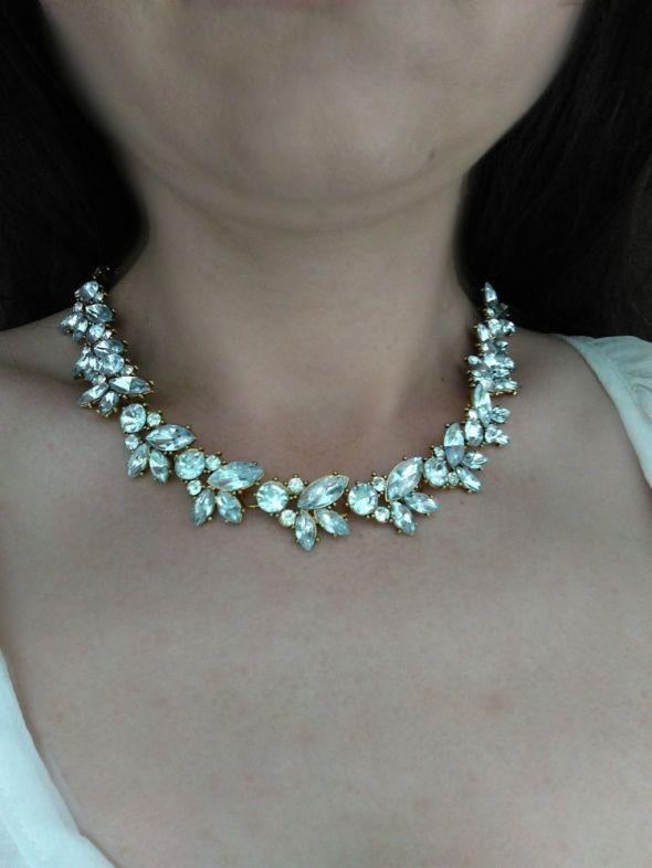 zdjęcie Elegancki naszyjnik kolia z kryształkami w pełnej rozdzielczości