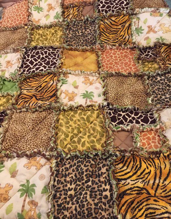 Lion King Nursery Rag Quilt