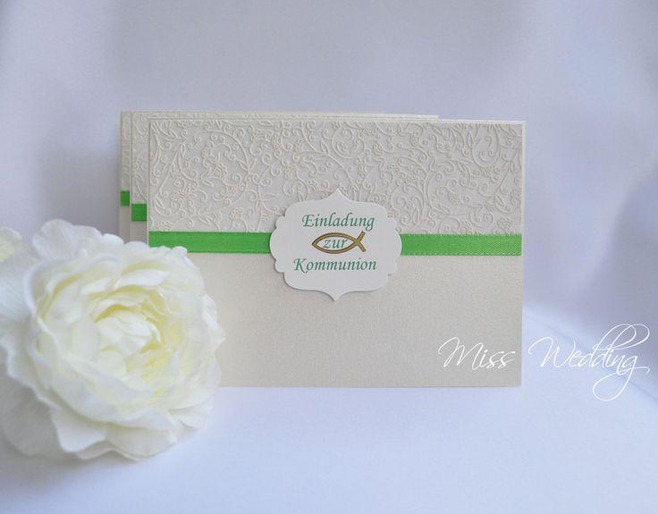 Einladungskarte Kommunion Geburtstag Hochzeit von Miss Wedding auf DaWanda.com