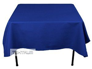 """TEKTRUM 70 X 70 INCH 70""""X70"""" SQUARE POLYESTER TABLECLOTH - THICK/HEAVY DUTY/DURABLE FABRIC - BLUE COLOR - Visit to see more options"""
