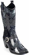 best deals on rubber cowboy rain boots | ... Rain Bops Western Style Rhinestone Winged Cross Rain Boots-Reba