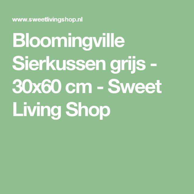 Bloomingville Sierkussen grijs - 30x60 cm - Sweet Living Shop