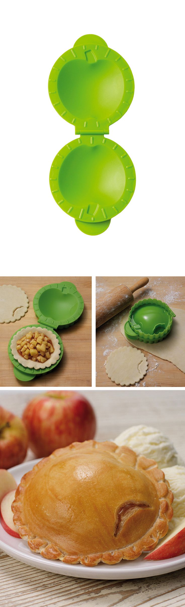 Mini Pie Maker - simply cut the dough and fill with sweet or savory fillings.