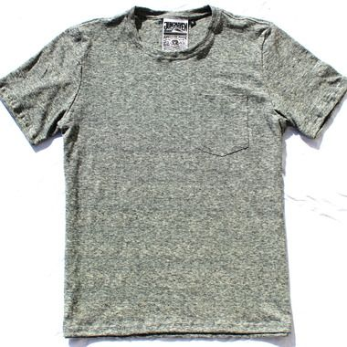 Men's Short Sleeve Pocket Tee Heathered Black