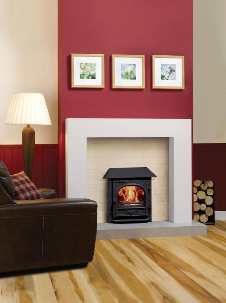 Stockton Inset With Red Chimney Breast Home Interiors Pinterest Living