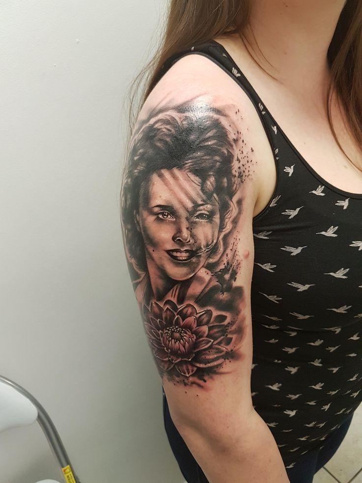 Black Dahlia by Cheryl @ Rock n Roll Tattoo Glasgow