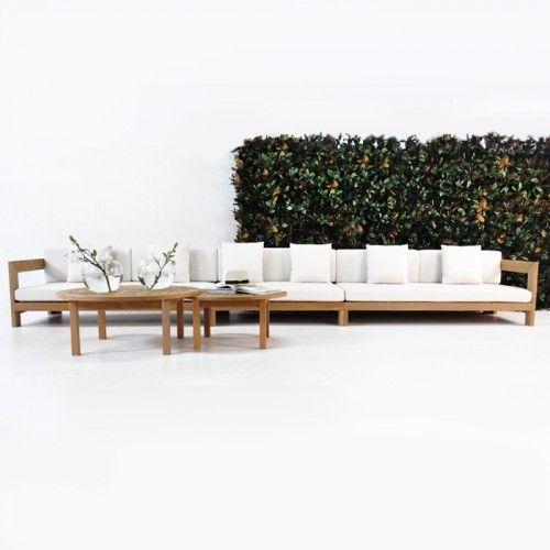 amalfi deep seating teak outdoor sofa
