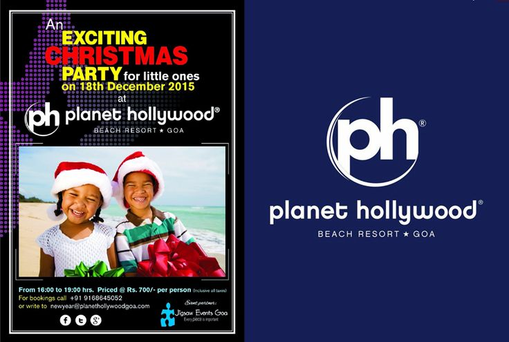 You all invited at the #Christmas party for little ones at #PlanetHollywood #BeachResort, #Goa.
