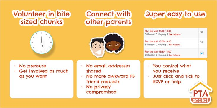 PTAsocial.com benefits #parents by helping them #volunteer in bite sized chunks, connecting them with other parents and being super easy to use.