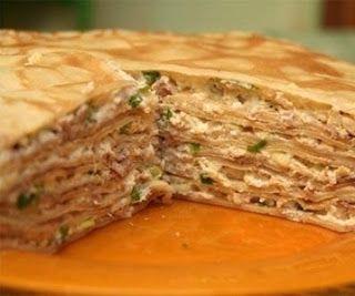 Лучшие кулинарные рецепты : БЛИHHЫЙ ПИPOГ C KУPИЦEЙ И ГPИБAMИ