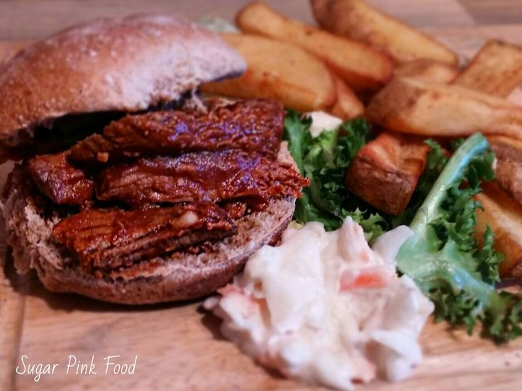 Sugar Pink Food: Recipe:- Special Slow Cooked Pulled BBQ Beef Brisket