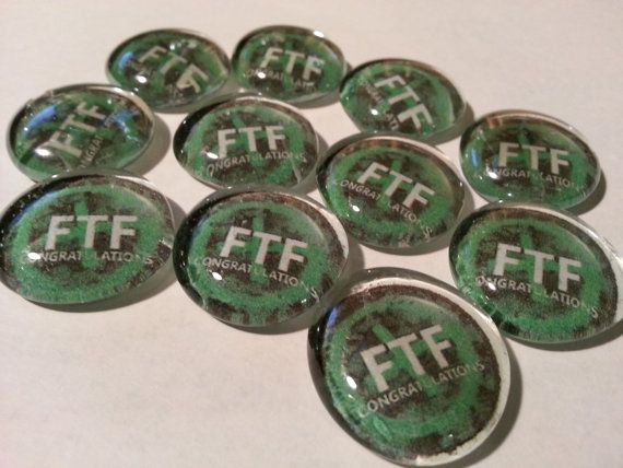 FTF First To Find glass stone SWAG x10pcs