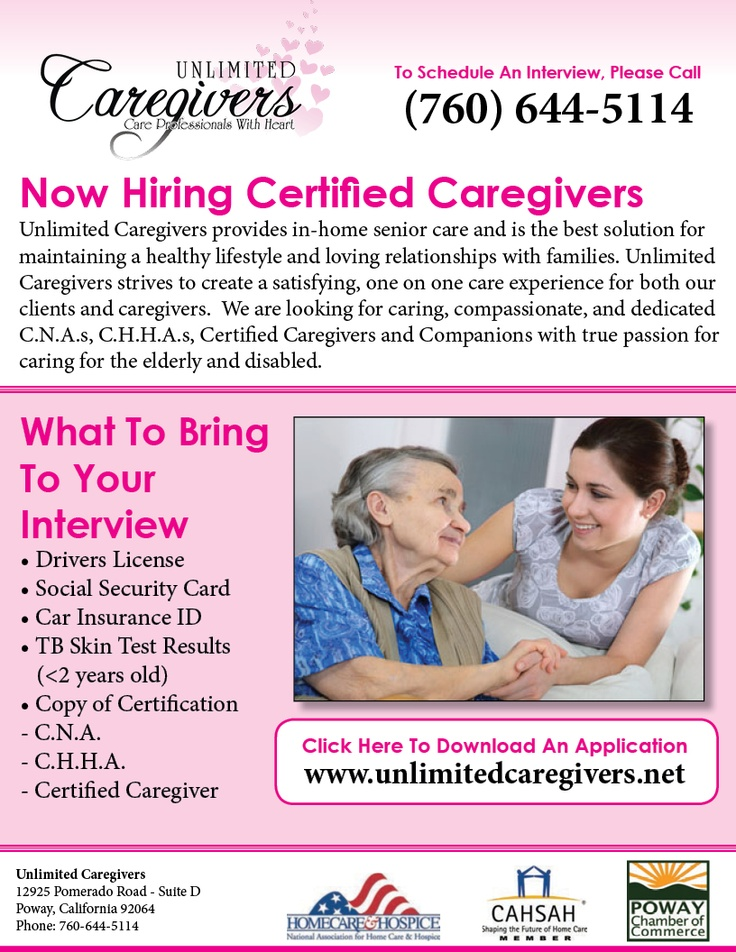 Unlimited caregivers craigslist ad design ad design