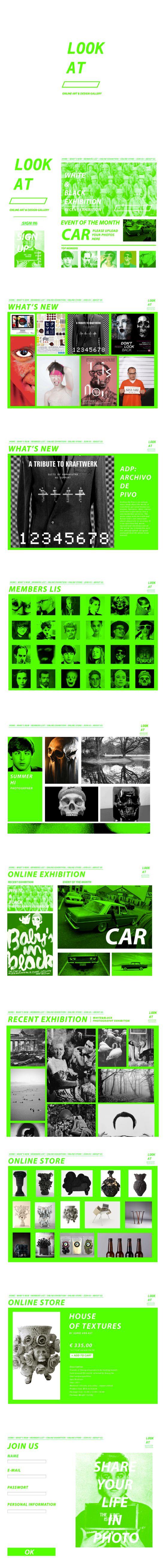 LOOK AT online art&design gallery(web design homework) on Behance