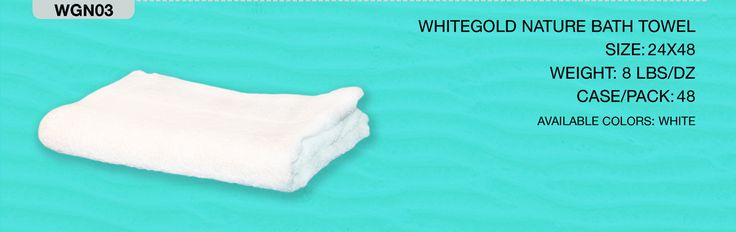 24 Dry Comfort White Gold Nature Bath Towels 24 x 48 Inch #WGN03