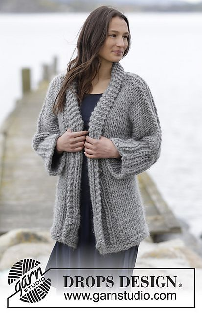 Ravelry: 164-29 Hold Me Close pattern by DROPS design, super bulky yarn.