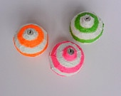 Neon Christmas Ornaments / Round Ornaments / ornament set / Christmas tree ornaments