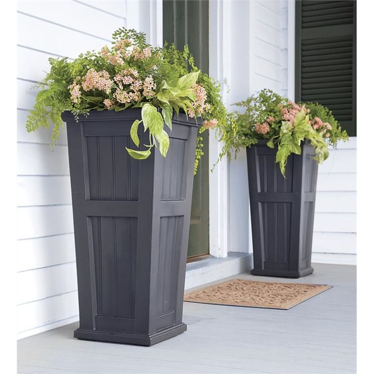 Exceptional Tall Pots For Outdoor Plants Part - 2: Best 25+ Tall Planters Ideas On Pinterest | Outdoor Potted Plants, Front  Porch Planters And Outdoor Flower Planters