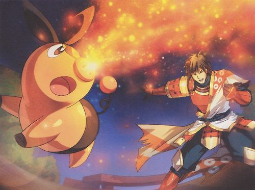 Pokemon Conquest Male character with Tepig. I totally want to cosplay this!