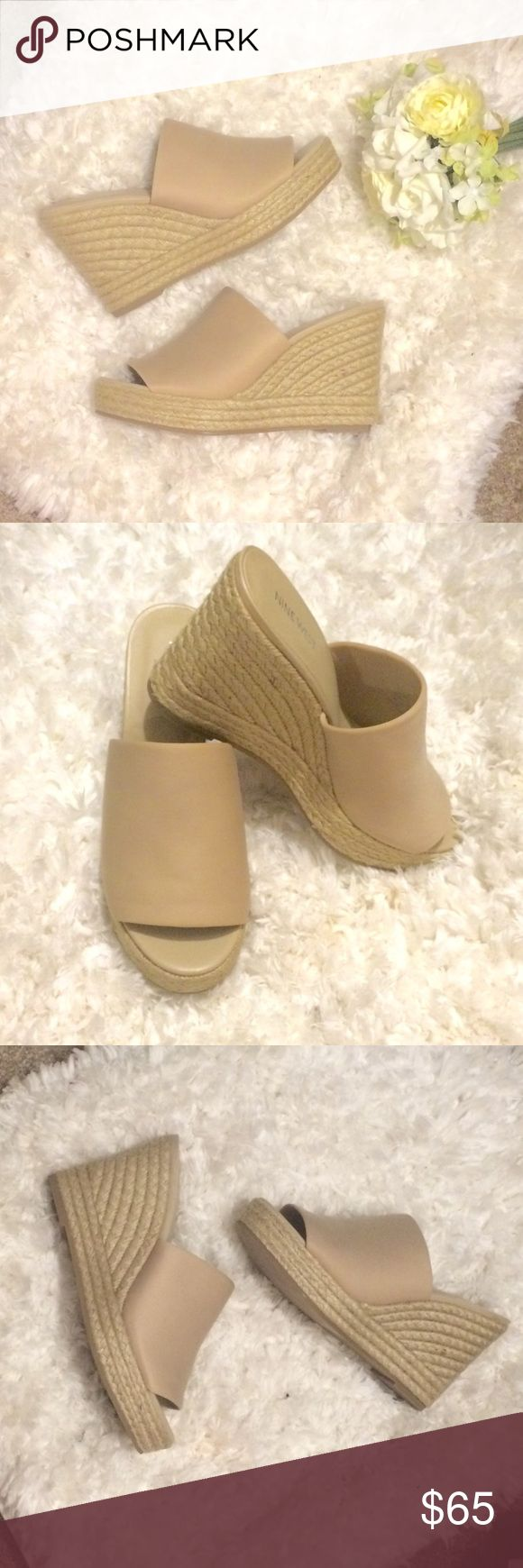 Nine West Nude espadrille wedge sandal Brand new Nine West Nude espadrille wedge sandal. Perfect for any outfit - dress up or down. Nine West Shoes Espadrilles