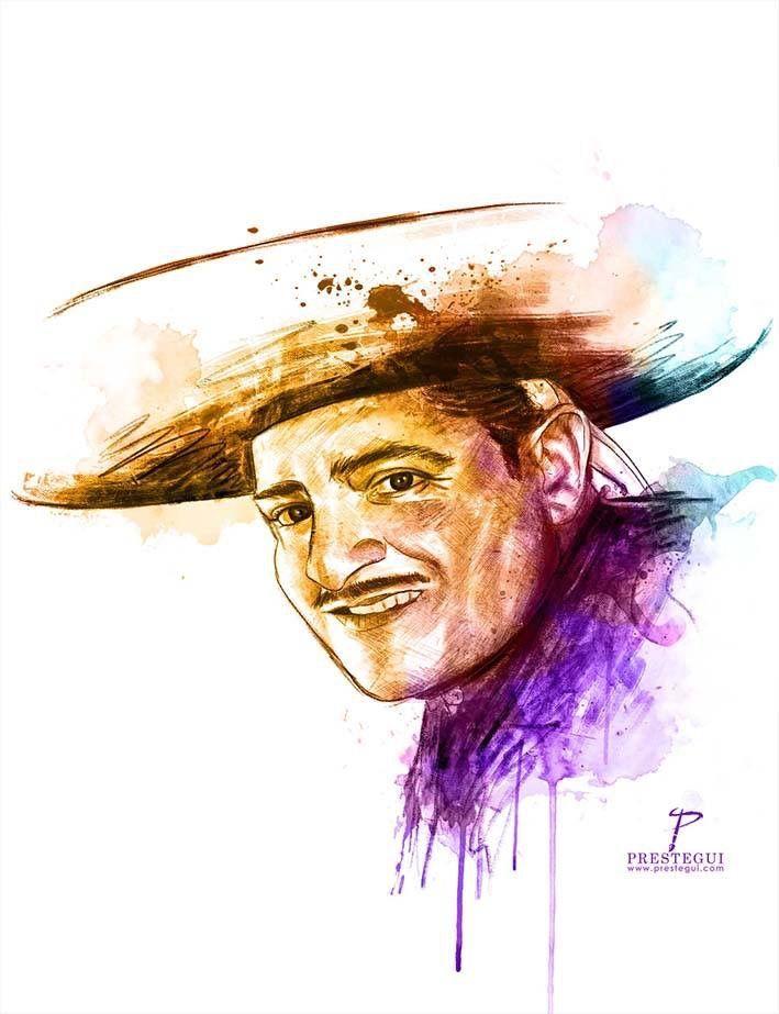 ¡Feliz cumpleaños a El Rey! #JoséAlfredoJiménez #rey #cuatrocaminos #Guanajuato #México #mariachi #Gudalajara #ilustración #retrato #acuarela #watercolor #portrait #música #music #tequila #ranchera #huapango #compositor #charro #garibaldi #lavidanovalenada