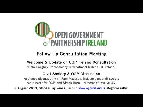 Welcome, Update + Civil Society & OGP Lessons Learned | OGP Ireland | Follow Up Consultation Meeting