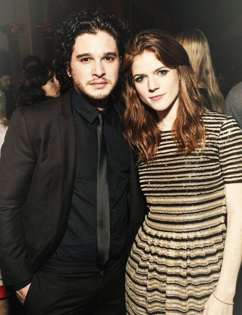 Kit Harington (Jon Snow) and Rose Leslie (Ygritte) at the San Francisco 'Game of Thrones' premiere (March 20, 2013)