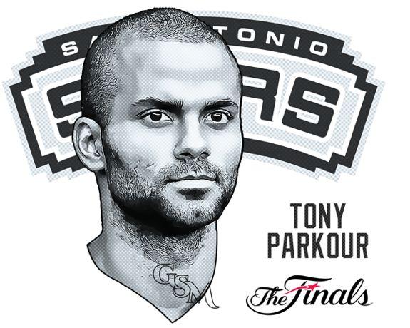 """Faces of the NBA Finals 'Spurs' - """"Tony Parkour"""""""