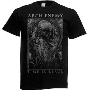 Official Arch enemy shirt featuring Time is Black design.