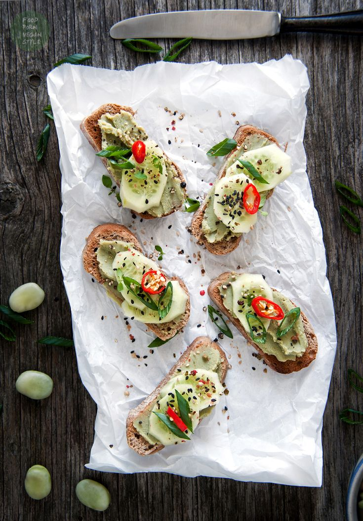 Asian style fava bean bread spread or dip