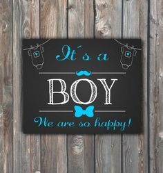 Printable Its A Boy Sign –16x20 Chalkboard Sign–Gender Reveal Chalkboard-Printable Gender Announcement Sign-Baby Boy Print-Instant Download