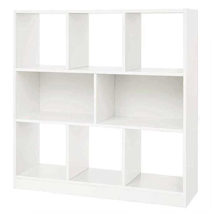 Vasagle Wooden Bookcase Open Cubes Shelves Free Standing