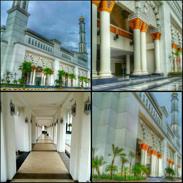 Mujahiddin Mosque, the biggest mosque in Pontianak, Indonesia