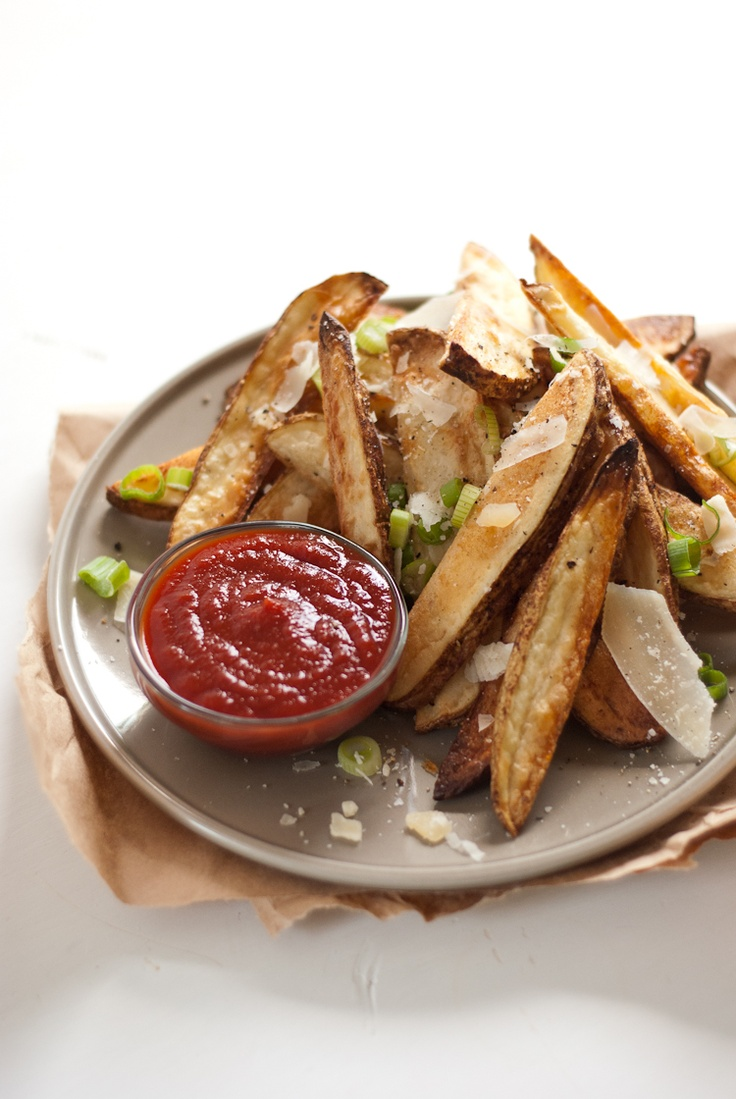 Crispy Baked French Fries Recipe — Dishmaps