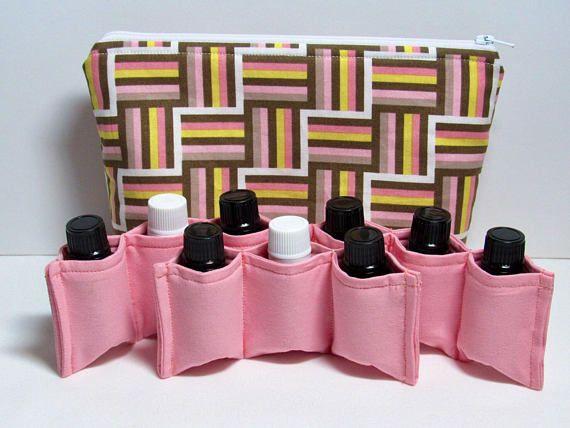 Essential oil bag Oil bottle storage Bag with pockets