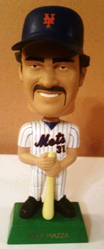 Mike Piazza 2001 Upper Deck Play Makers Bobblehead New York Mets Nice Condition