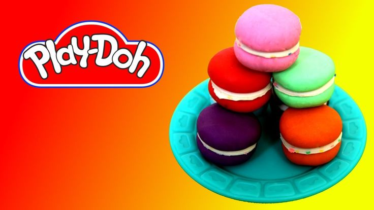 How to make Macaroons out of Play Doh - YouTube