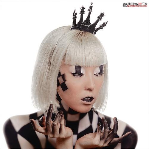 Corona di scacchi / make-up scacchi