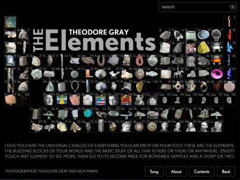 8 best elements images on pinterest science chemistry chemistry the elements a visual exploration version 1021 review ipad books app periodic table urtaz Image collections